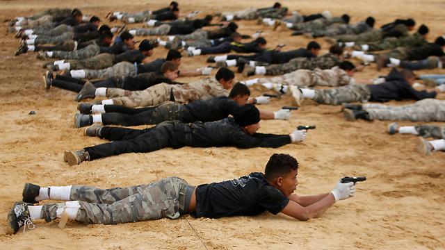 מחנה נוער של חמאס בעזה (צילום: רויטרס)
