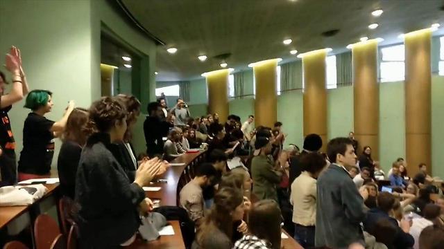BDS protesters disrupt Israeli ambassador to France