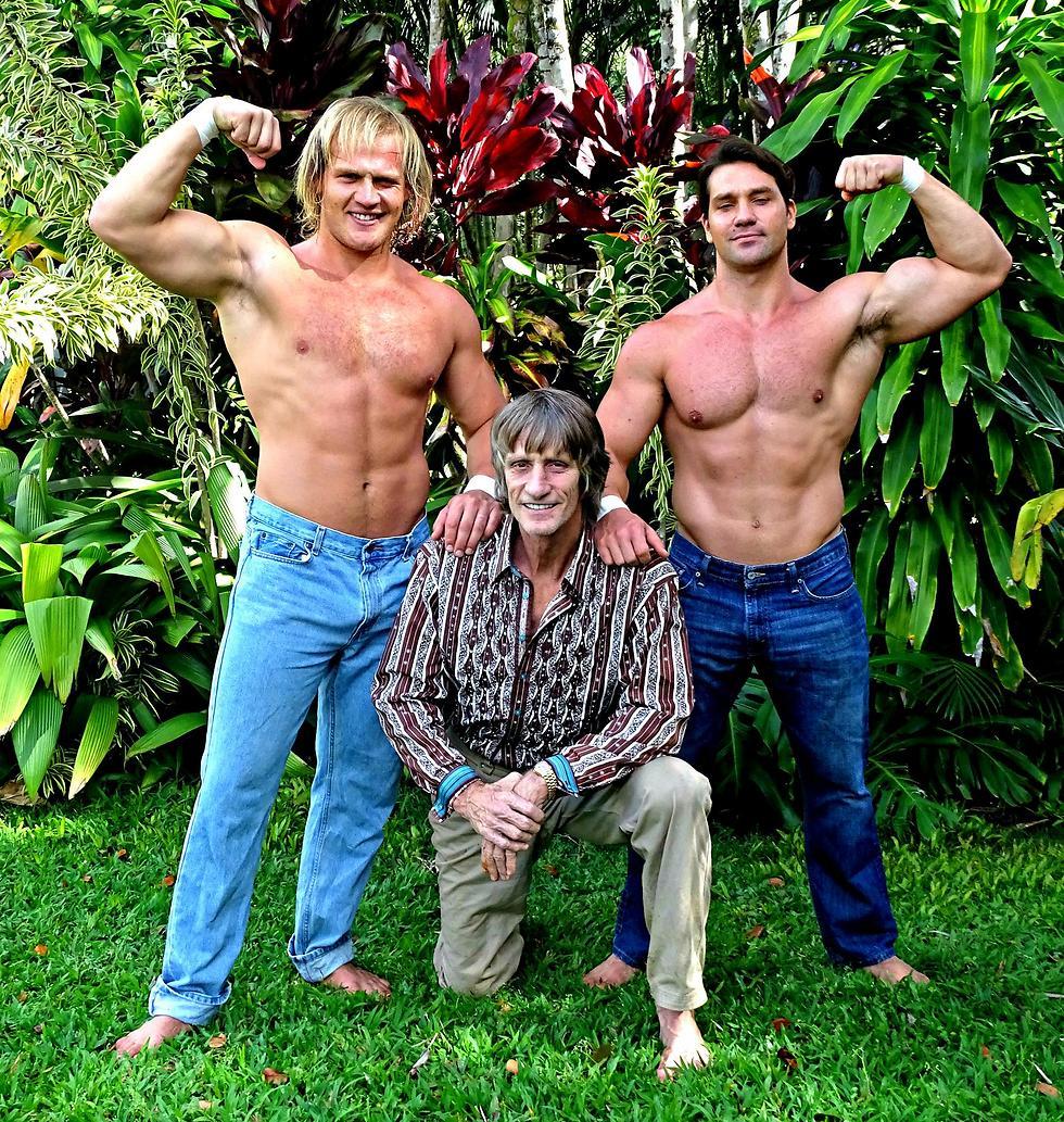 Kevin and the Von Erich boys (Photo: PR)