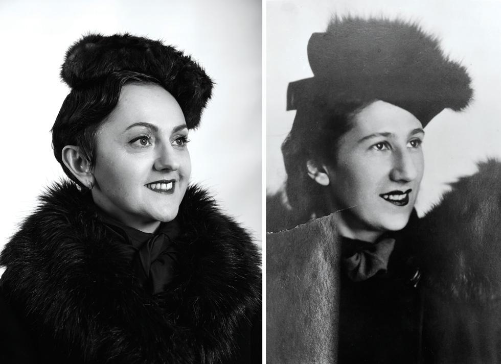 """סבתא אנה ז""""ל והנכדה פולינה מיסרנקו  (צילום: בוריס צ'רניקוב, FLEA STUDIO)"""
