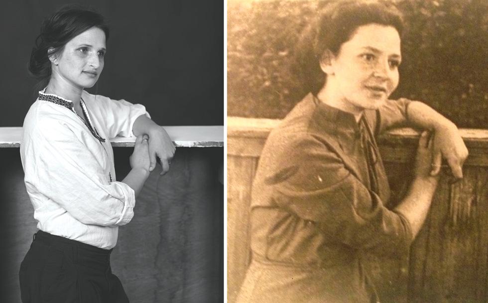סבתא רחל והנכדה אליסה אוגורסקי (צילום: בוריס צ'רניקוב, FLEA STUDIO)