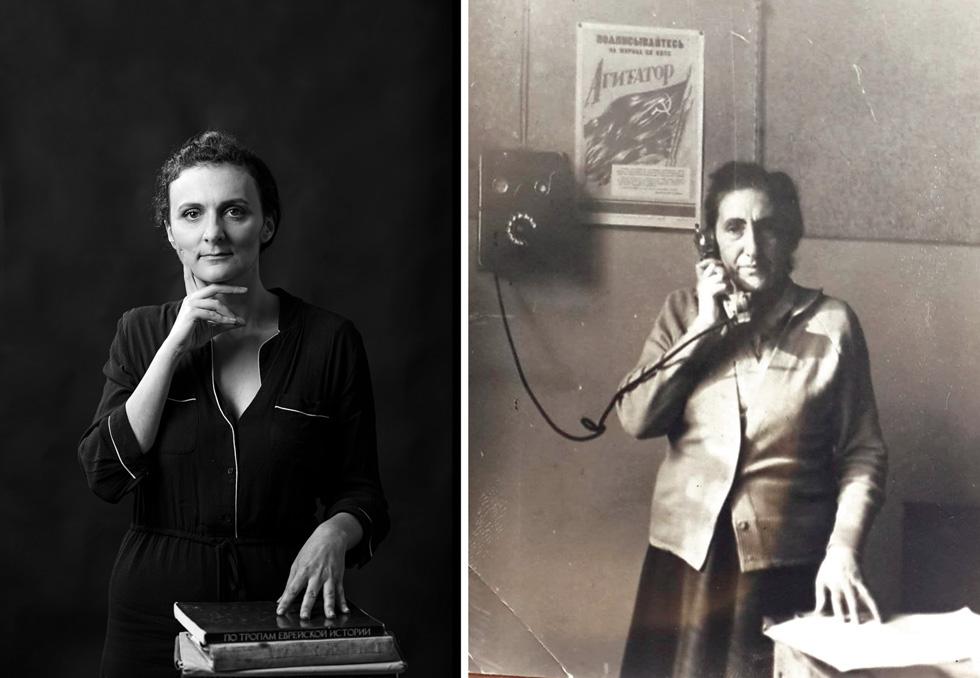"""סבתא רחל ז""""ל והנכדה אנה ויינר (צילום: בוריס צ'רניקוב, FLEA STUDIO)"""