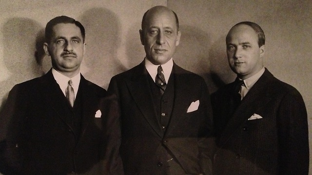 From left, Zacharias Max Hackenbroch, Julius Falk Goldschmidt and Saemy Rosenberg, three of the Jewish collectors who purchased the Welfenschatz in 1929 (Photo: Gerald Stiebel) (Photo: Gerald Stiebel)
