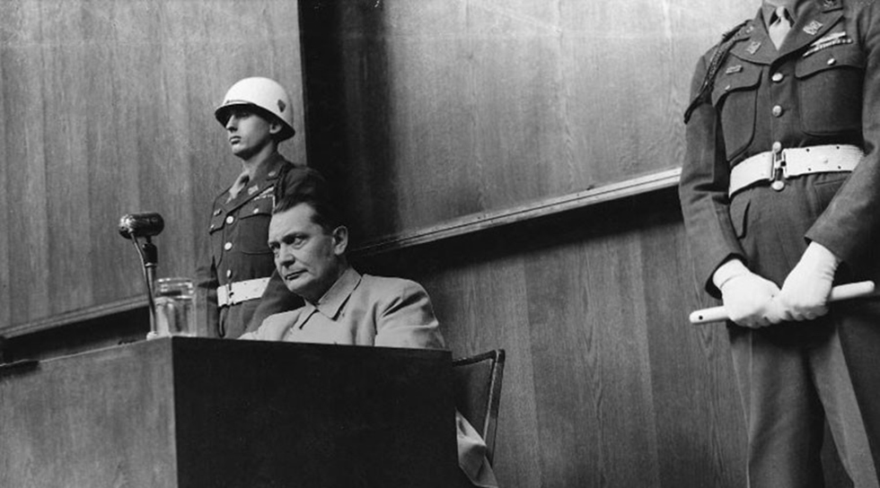Goering in the Nuremberg Trials (Photo: Yevgeny Khaldei, downloaded from russiainphoto.ru)