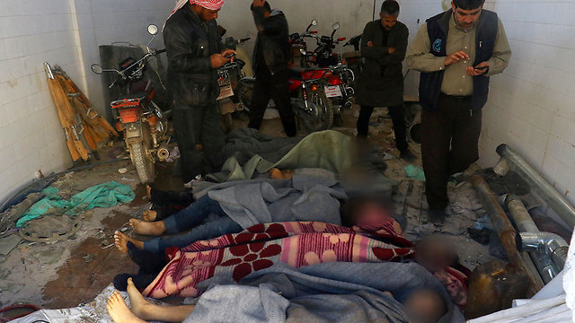 Victims of alleged use of chemical weapons by the Assad regime in Idlib (Photo: Reuters)