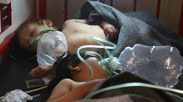 Victims of Sarin gas attack (Photo: AFP)