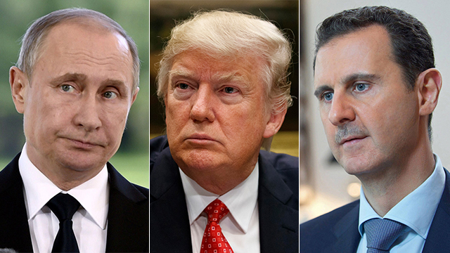 L to R: Putin, Trump and Assad (Photos: Reuters, EPA, AP) (Photo: AP/EPA/Reuters)