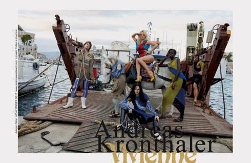 פמלה אנדרסון בקמפיין בגדי הים של ויויאן ווסטווד (צילום: Juergen Teller)