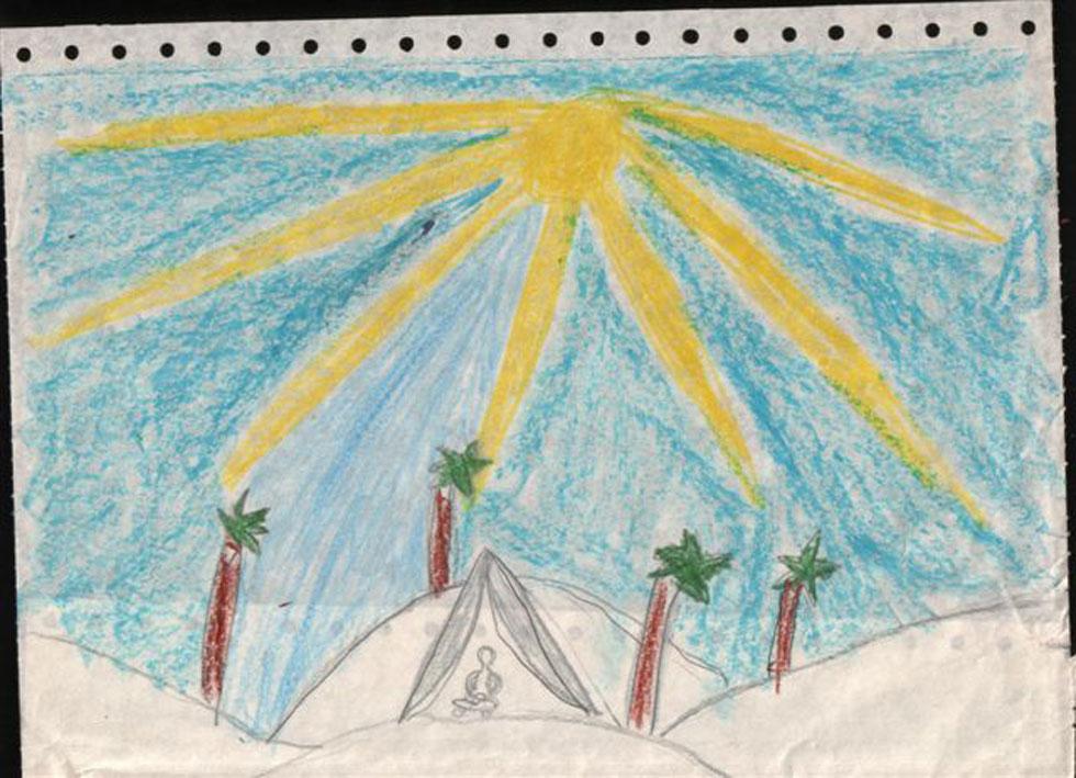 מה אומרת השמש בציור? יכול להיות ששום דבר