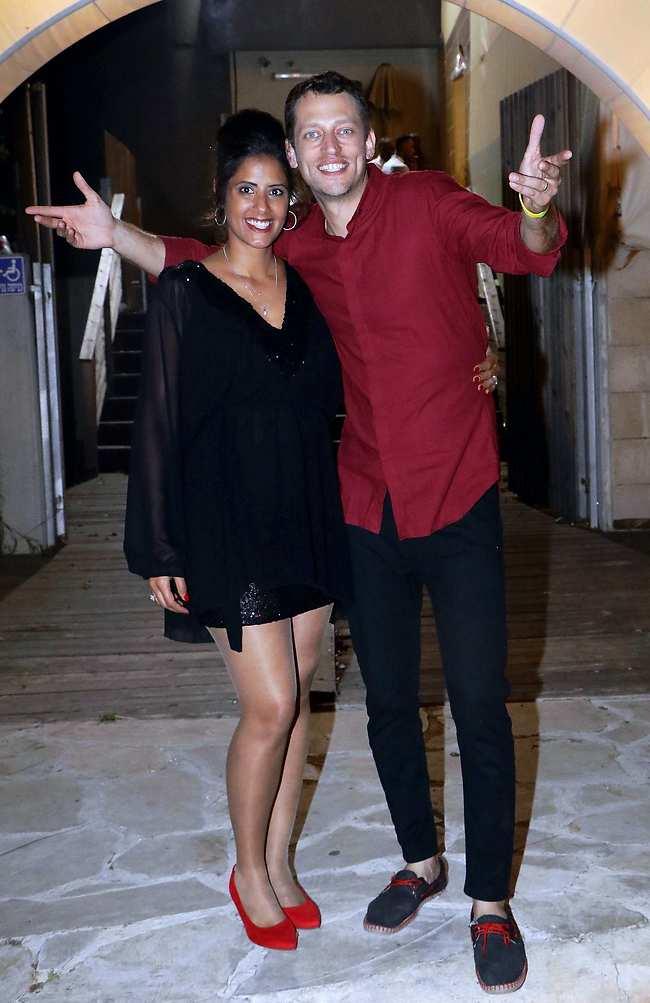 מזל טוב. אלירן תבורי ואשתו אוריאן חוגגים ברית לבנם שילה (צילום: אמיר מאירי)