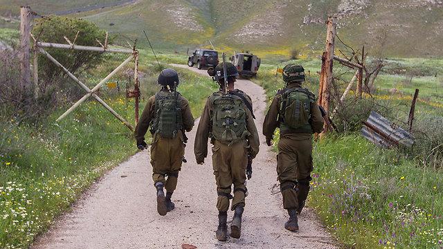 Patrolling near the fence (Photo: Ido Erez)