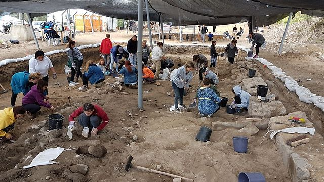 Students participating in excavations (Photo: Shmuel Magal, Israel Antiquities Authority) (Photo: Shmuel Magal, Israel Antiquities Authority)