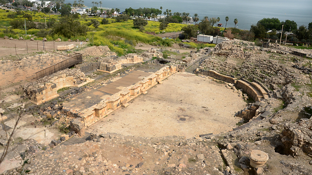 Roman theater of Tiberias (Photo: Israel Antiquities Authority) (Photo: Israel Antiquities Authority)