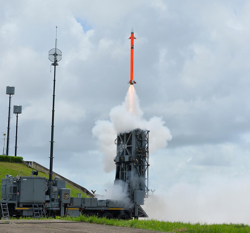 MR SAM Aerial defense system (Photo: IAI)