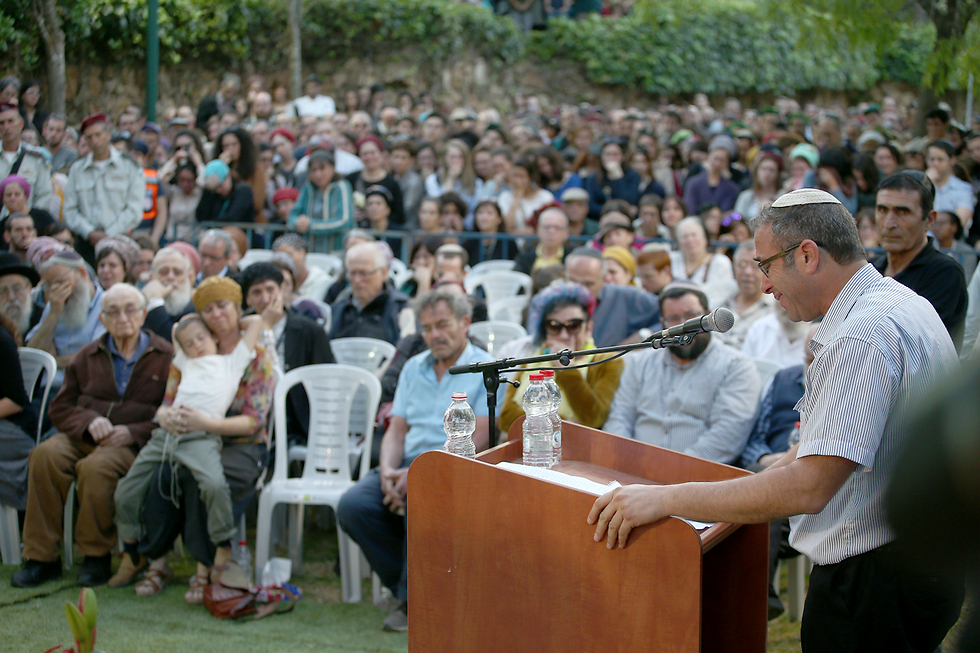 Father delivers eulogy (Photo: Ohad Zwigenberg)