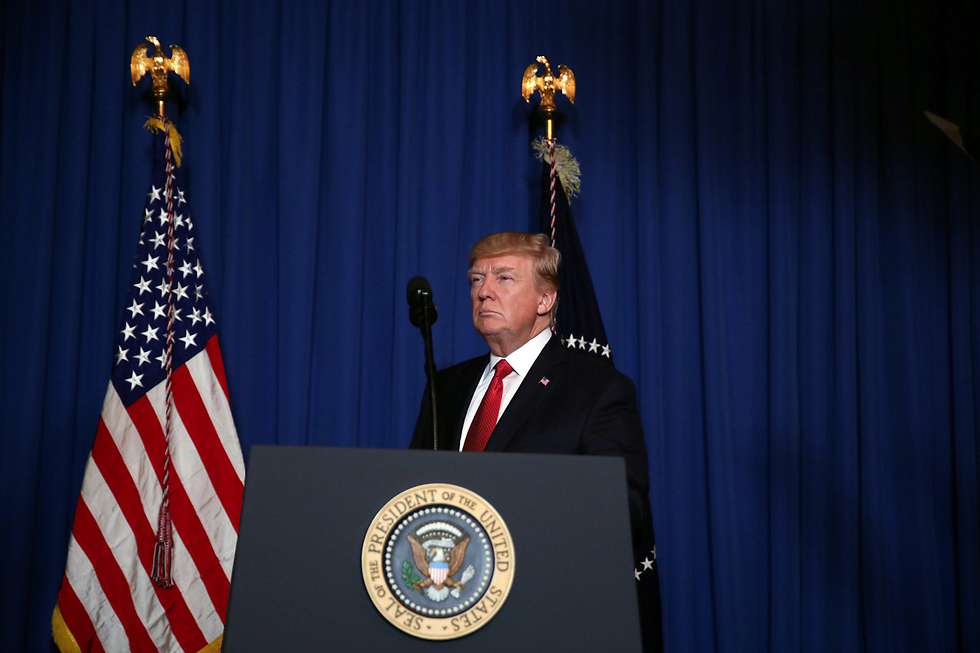Trump announcing the strike (Photo: Reuters)