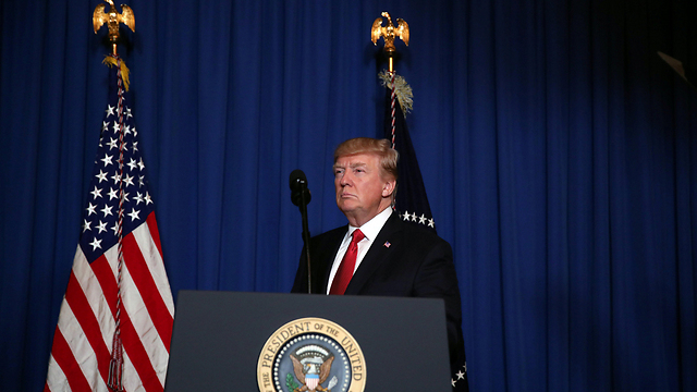 Trump announces the US strike in Syria, Thursday night (Photo: Reuters)