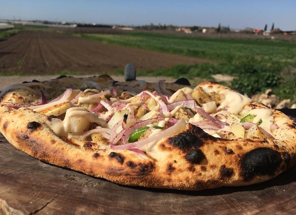 מישהו זוכר שפעם הייתה פה רפת? הפיצה של מסעדת ג'ויס (צילום: לין לוי) (צילום: לין לוי)