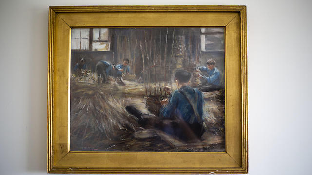 Max Liebermann's Basket Weavers painting (Photo: AP)