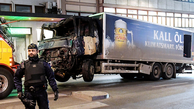 The truck used on the attack (Photo: Reuters)