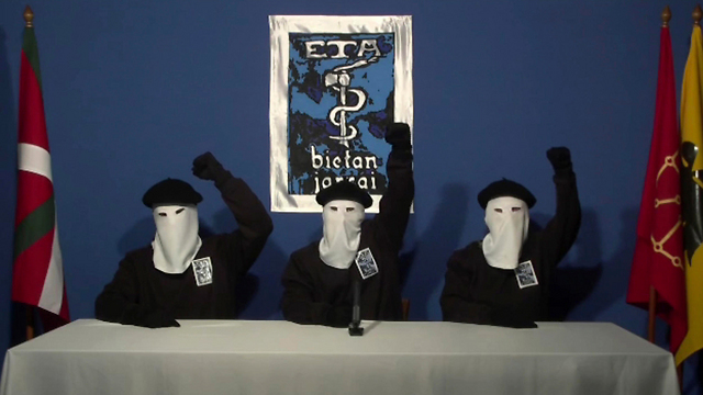 Representatives of the ETA declaring the ceasefire in 2011 (Photo: AP)