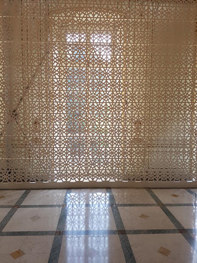 """מחיצת משרביה של מרסל ואנדרס (צילום: איתי כ""""ץ)"""