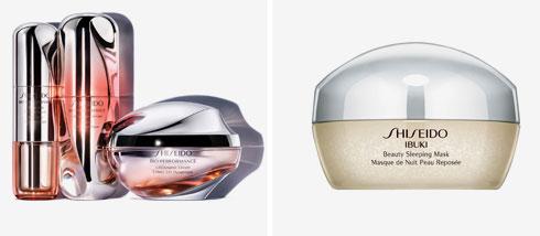 מימין: מסכת Ibuki Beauty Sleeping וסדרת LiftDynamic למיצוק העור (צילום: שיסיידו)