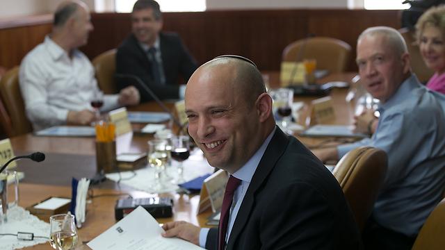 Education Minister Bennett (Photo: Ohad Zwigenberg)