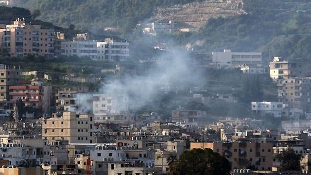Smoke rises during clashes in Ein al-Hilweh camp (Photo: AFP) (Photo: AFP)