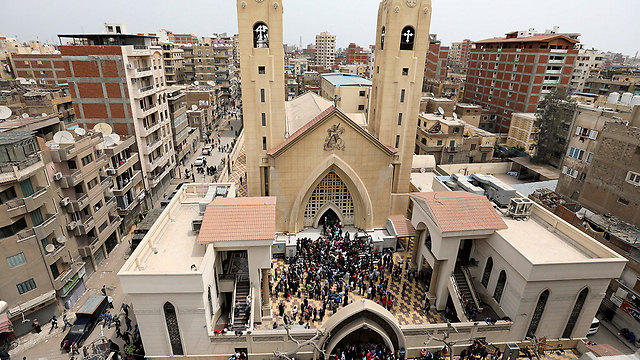 The Tanta church (Photo: Reuters)