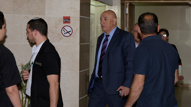 Basel Ghattas arriving in court  (Photo: Yehuda Perez)