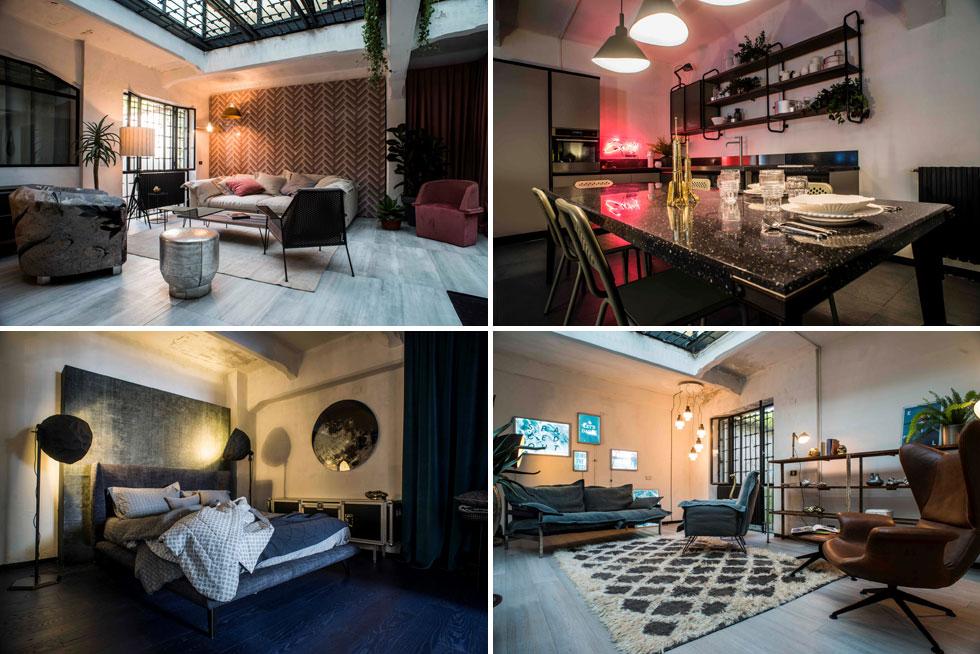 בית פופ-אפ שנבנה להשקת הקולקציה של דיזל בשבוע העיצוב במילאנו. לא רק ג'ינס ולא רק בגדים