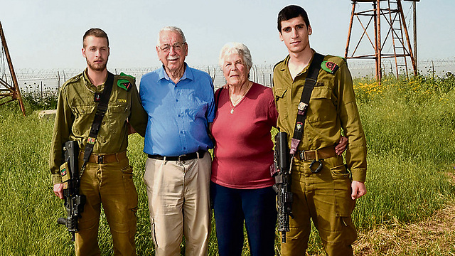The family's back together. From left to right: Ido, Yankale, Sara and Mor (Photo: Haim Horenstein)