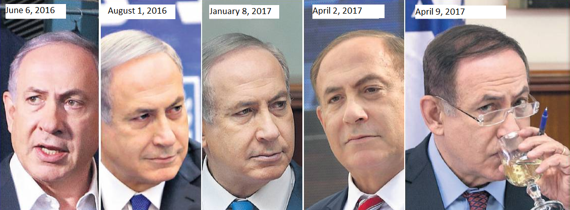 Netanyahu, painted with all the colors of the wind
