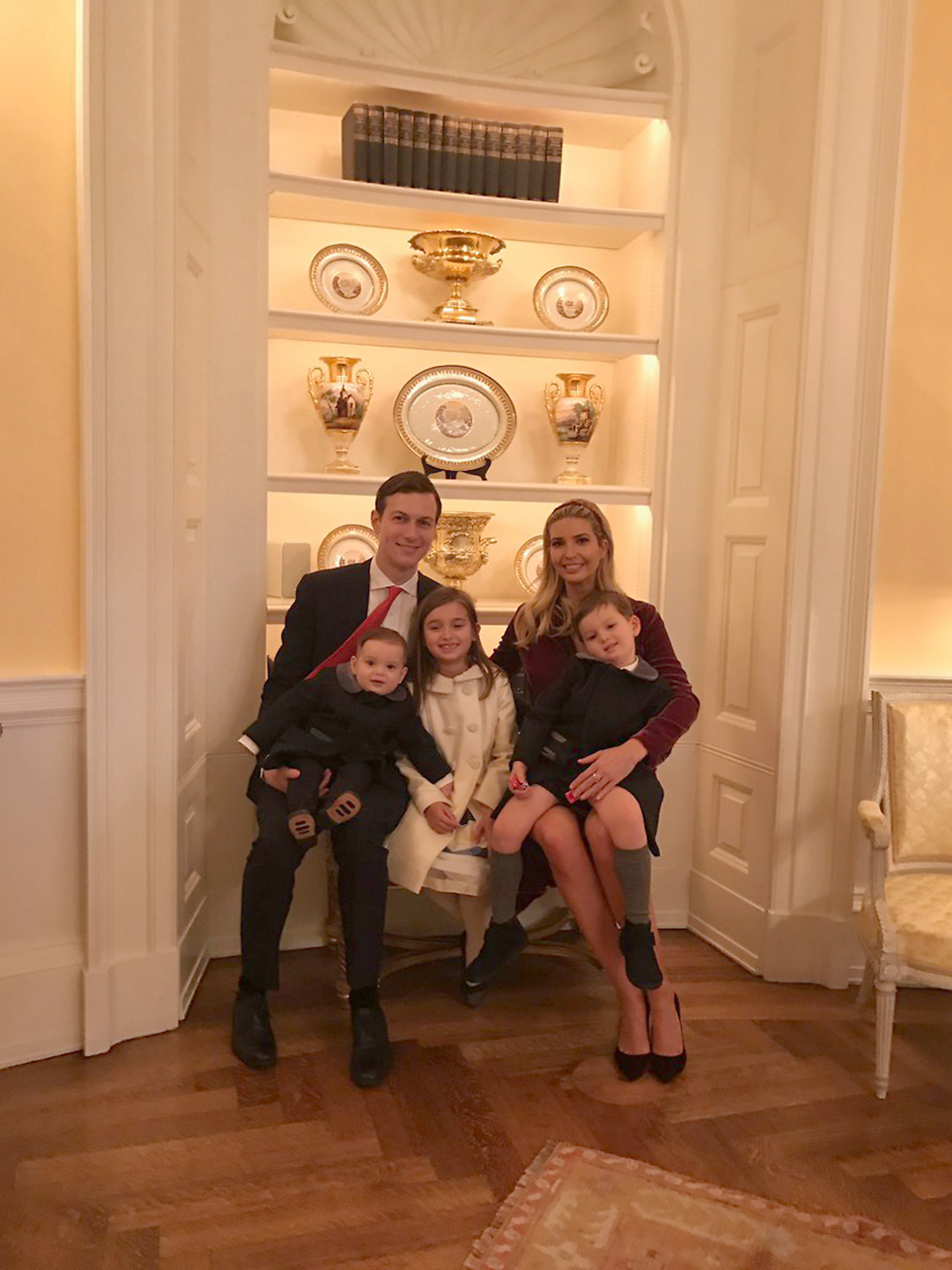 The picture that Ivanka Trump tweeted with her Passover message