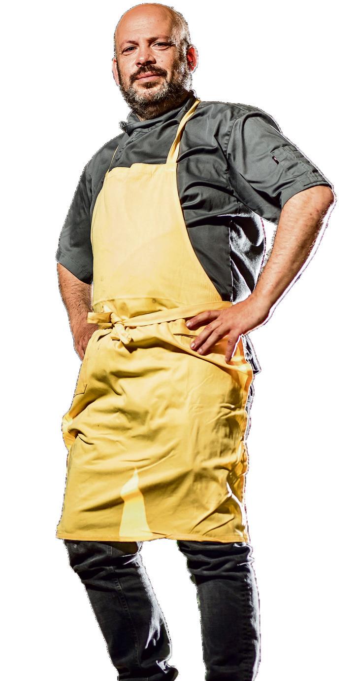 """רושפלד. """"בשיאי שקלתי 119 קילו וירדתי ל־75, וחזרו לי החיים. אתה יודע מה זה ללכת עם הכרס הזו ולנהל איתה קריירת בישול?"""""""