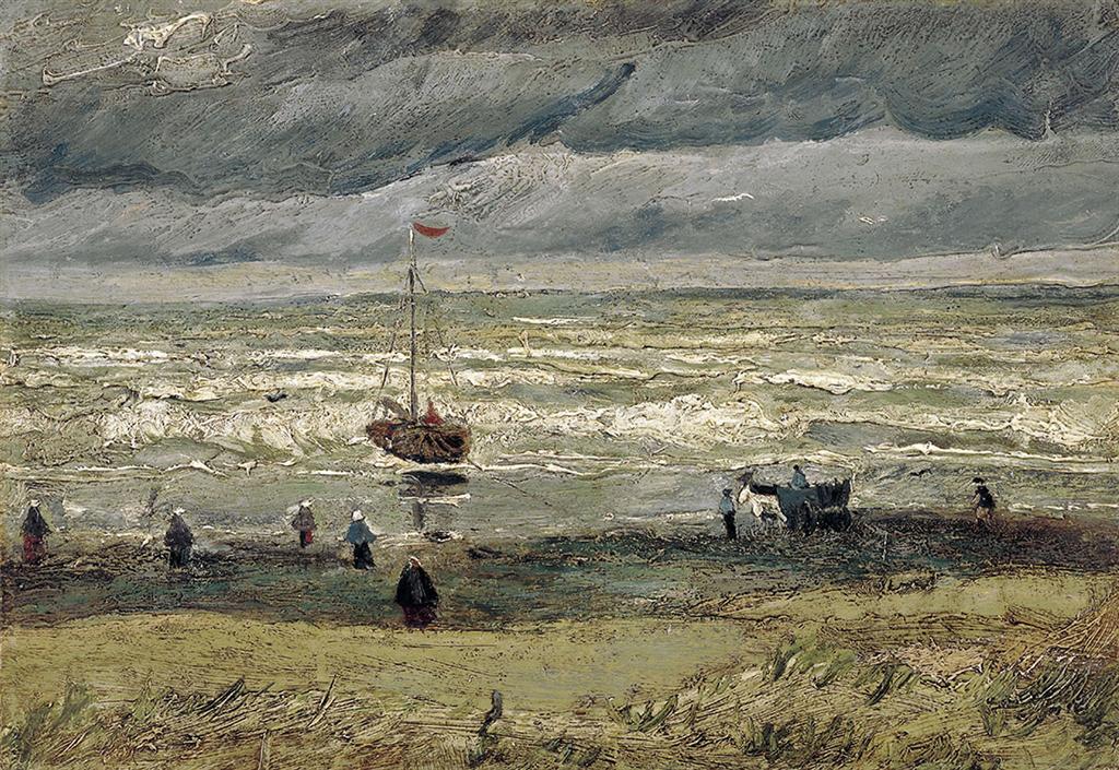"""""""מראה מעל הים בסכוונינגן"""" - יצירתו של ואן גוך שנגנבה ב-2002 ונמצאה (צילום: gettyimages)"""