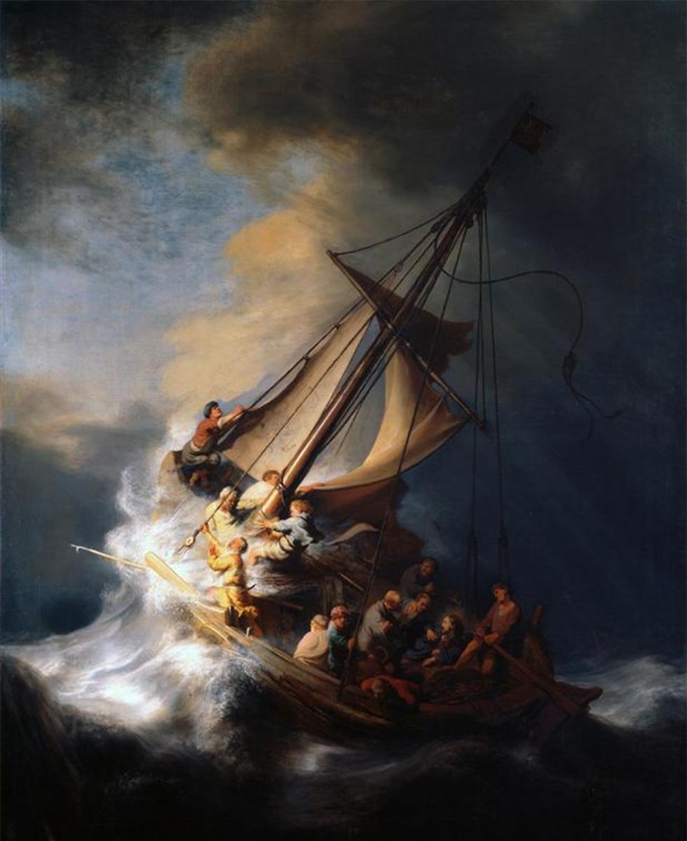 """""""סופה על ים כנרת"""". מיצירותיו הגנובות של רמברנט"""