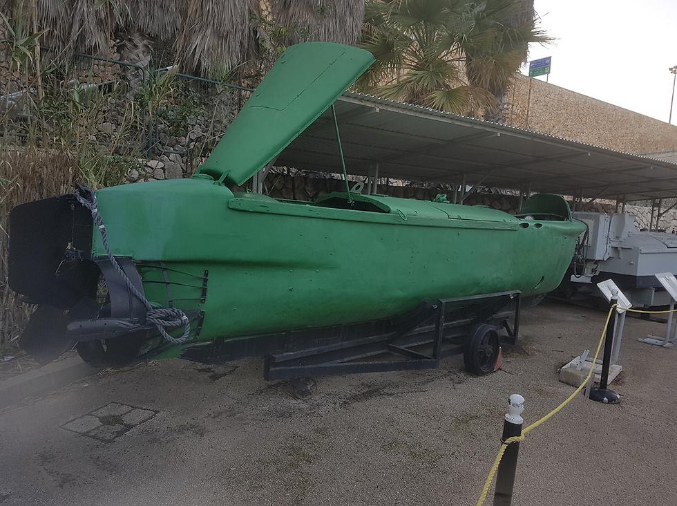 The manned torpedo (Photo: Assaf Kamar)