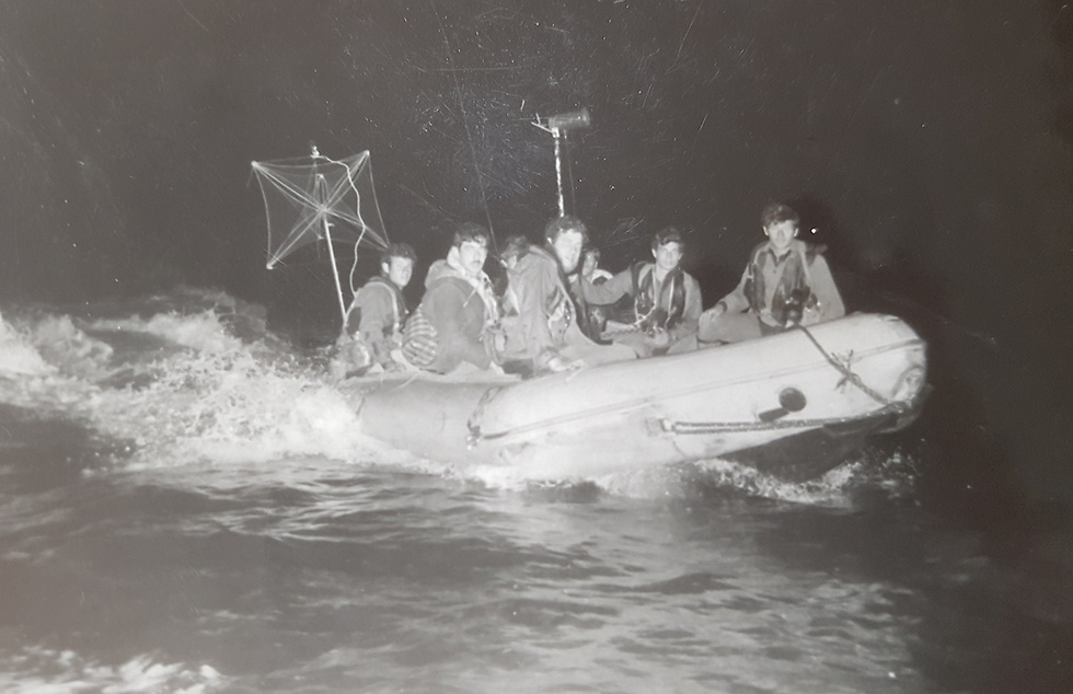 The propelled Inflatable boat (Photo: Naval Museum)