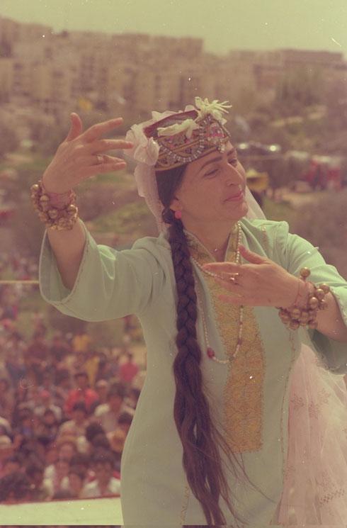 """חגיגות מימונה בירושלים, 1975 (צילום: יעקב סהר, לע""""מ)"""