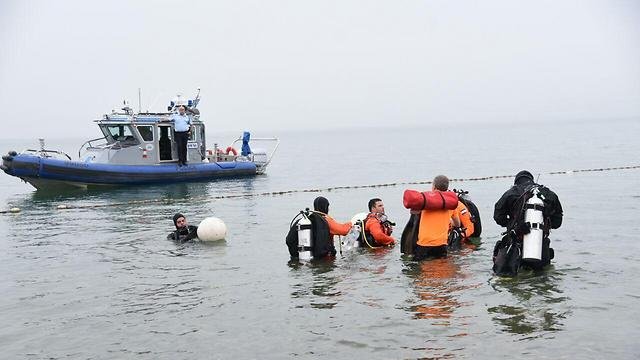 The search in the Kinneret continues (Photo: Avihu Shapira) (Photo: Avihu Shapira)