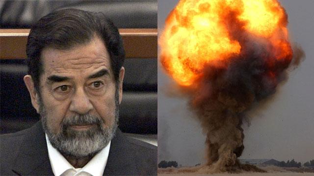 הניסוי נערך ממש לפני הפלישה לעיראק. סדאם חוסיין (צילום: gettyimages, AP) (צילום: gettyimages, AP)