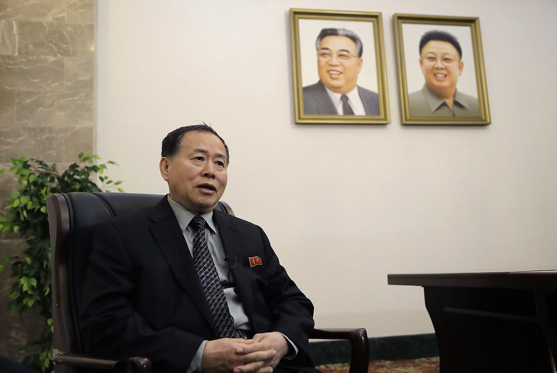 North Korea Vice Foreign Minister Han Song Ryol (Photo: AP)
