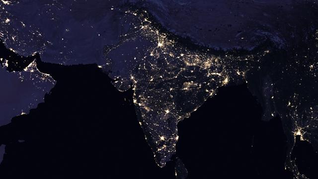 """הודו 2016 (צילום: נאס""""א) (צילום: נאס"""