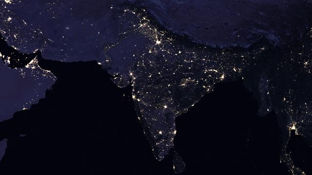 """הודו 2012 (צילום: נאס""""א) (צילום: נאס"""