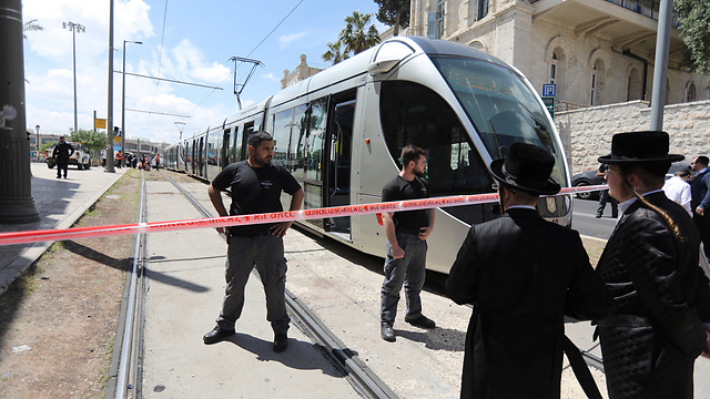 The tram on which Bladon was attacked (Photo: Reuters)