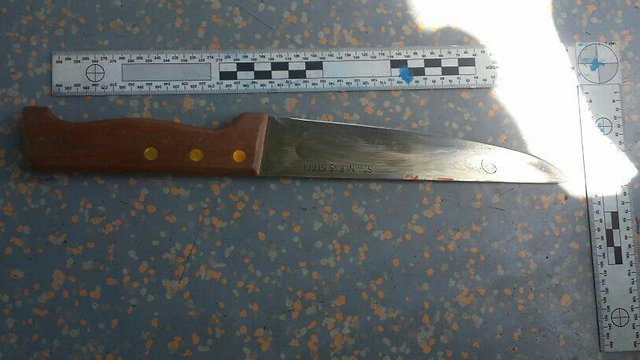 Knife used in the attack