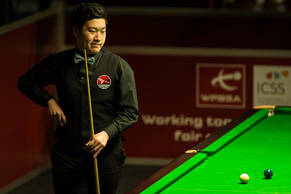 יאן. ההגרלה לא האירה לו פנים (צילום: Tai Chengzhe, worldsnooker.com)