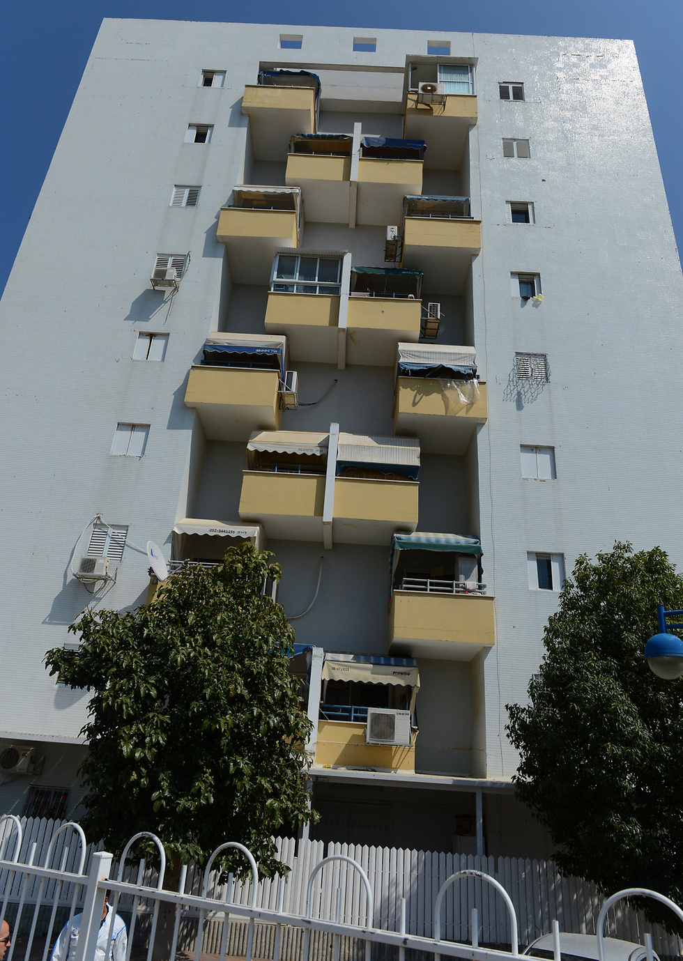 The building where the murder-suicide took place (Photo: Avi Rokach)